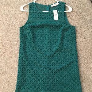 LOFT green lace dress!